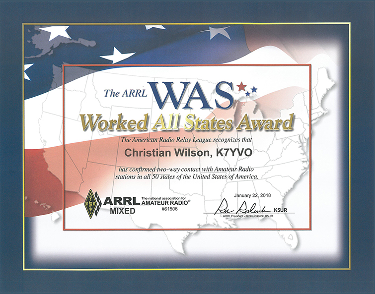 ARRL Worked All States